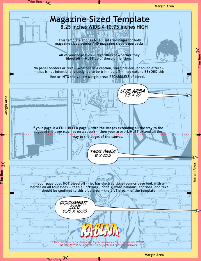 Making Digital Comics: Setting Your Page Size and Resolution