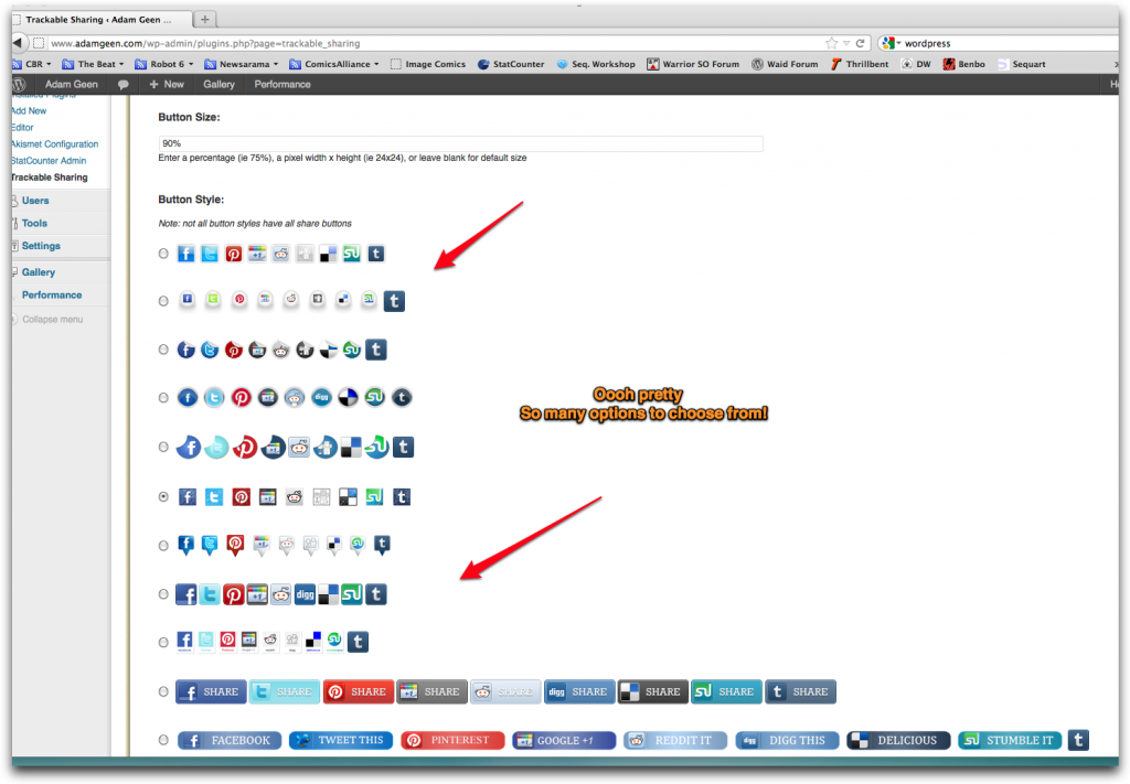 Trackable Sharing Plugin Example